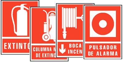 Señales de Incendios Aluminio