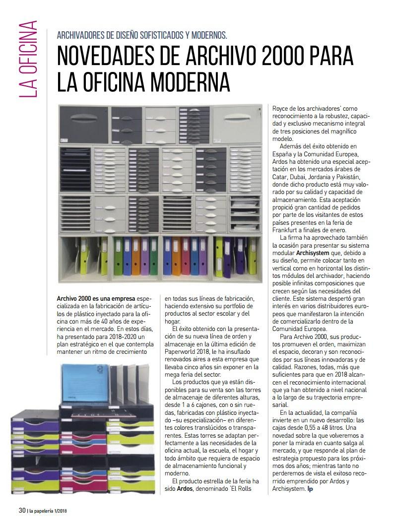 Archivo 2000 estuvo presente en la última edición de La revista La Papelería SerGraf