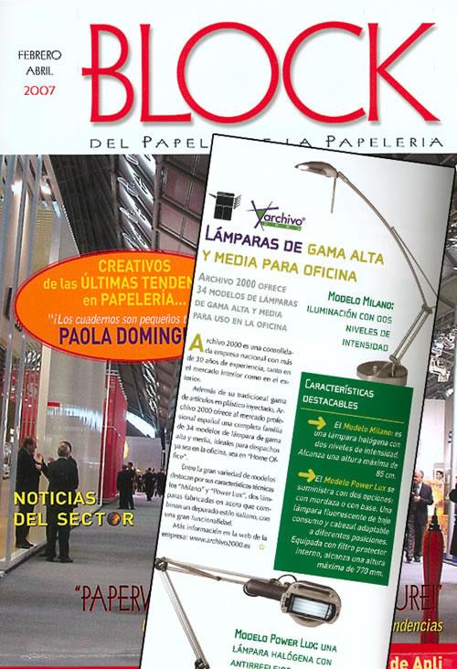 Publicado en Revista Block edición febrero - Abril 2007