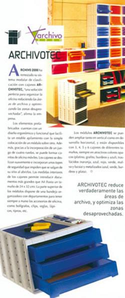 Nuevo sistema modular de clasificación Archivo2000