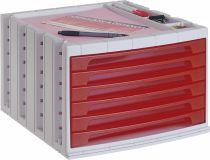 ArchivoTec Serie 6000 6006 TL Rojo Traslúcido