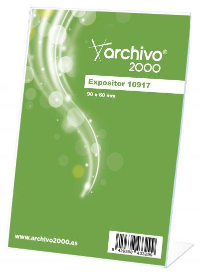 Expositores de Sobremesa en forma de L 10917 TP Cristal Transparente