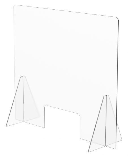 Mamparas de Sobremesa con Ventana 32023M TP Cristal Transparente