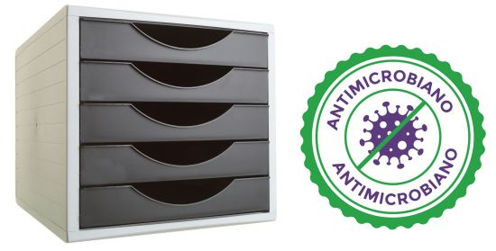 Complementos de Oficina Antimicrobianos 4005AM Negro