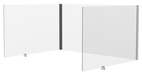 Mamparas de Oficina - Puesto Individual 42742M Cristal Transparente
