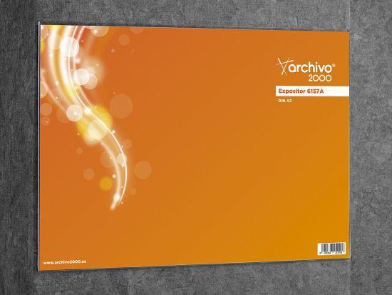 Expositores Murales con adhesivo 6157A TP Cristal Transparente