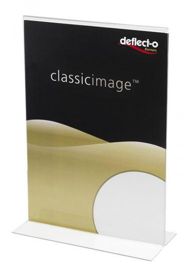 Expositores de Sobremesa en forma de T DE48001 TP Cristal Transparente