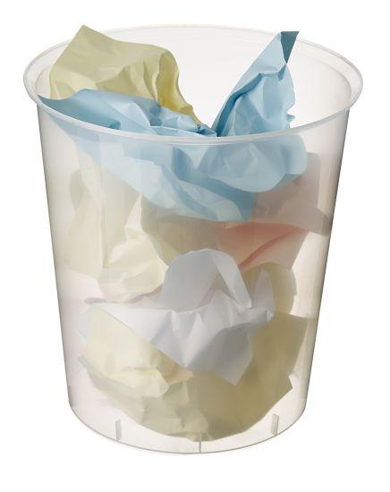 Papeleras de Plástico 2001 TL Cristal Traslúcido