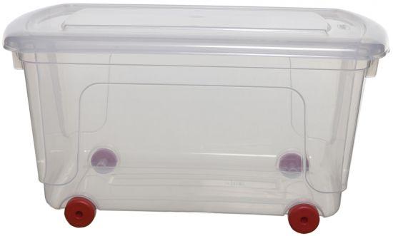 Cajas con ruedas WFS051330 TP Cristal Transparente